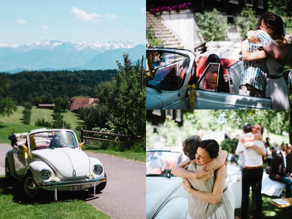 Ein VW Käfer als Hochzeitsauto