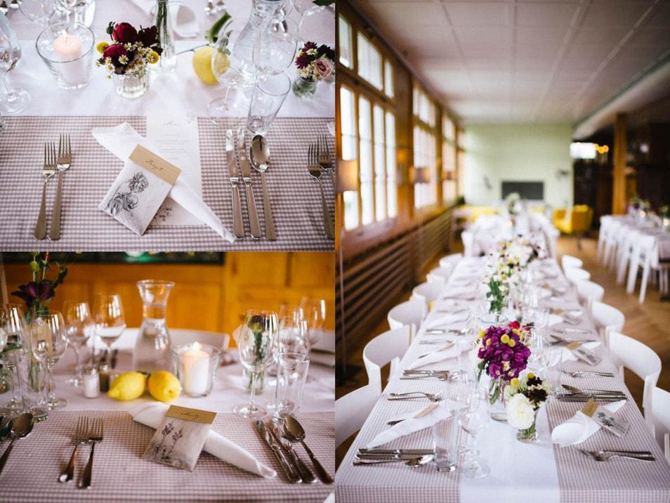 rustikale Tischdeko zur Hochzeit