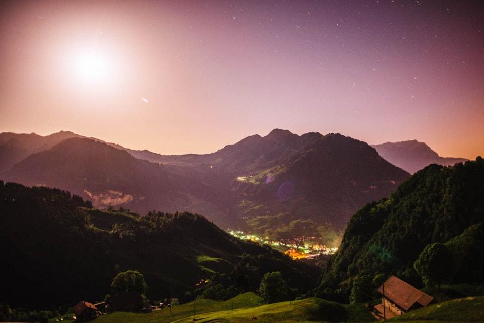 Berghochzeit Abend