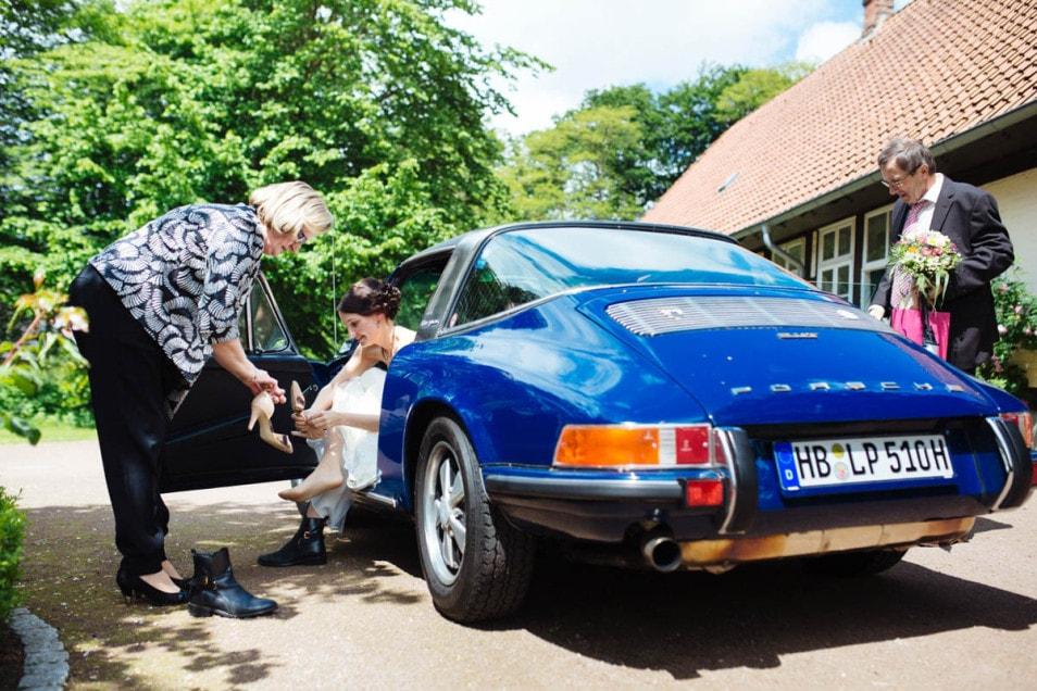 Porsche als Hochzeitsauto