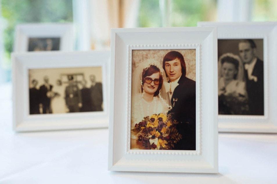 Hochzeitsfotos der Eltern
