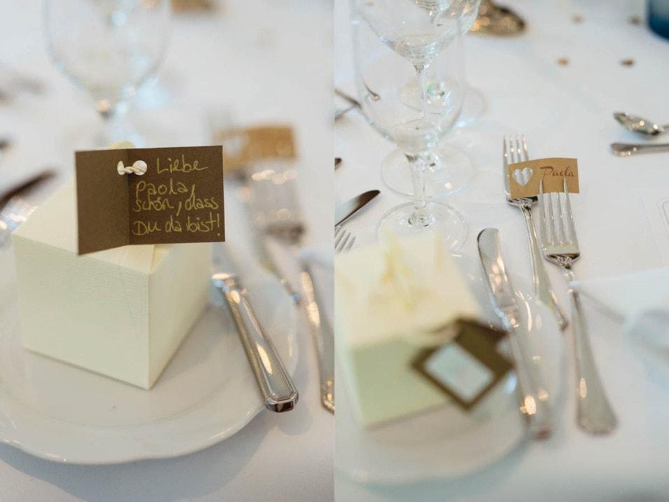 Willkommensgruß an die Hochzeitsfotografin