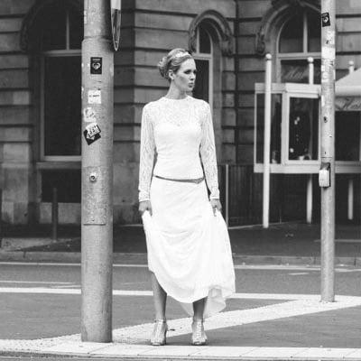 Moderne Brautkleider urban clean