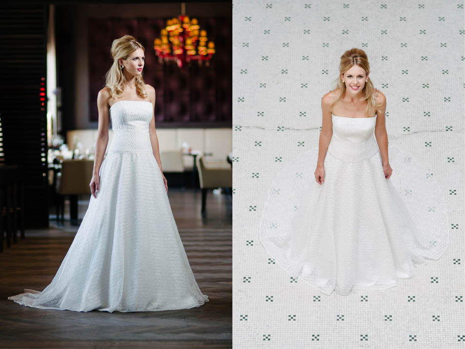 Schlichte Brautkleider elegant zeitlose Kombinationswunder