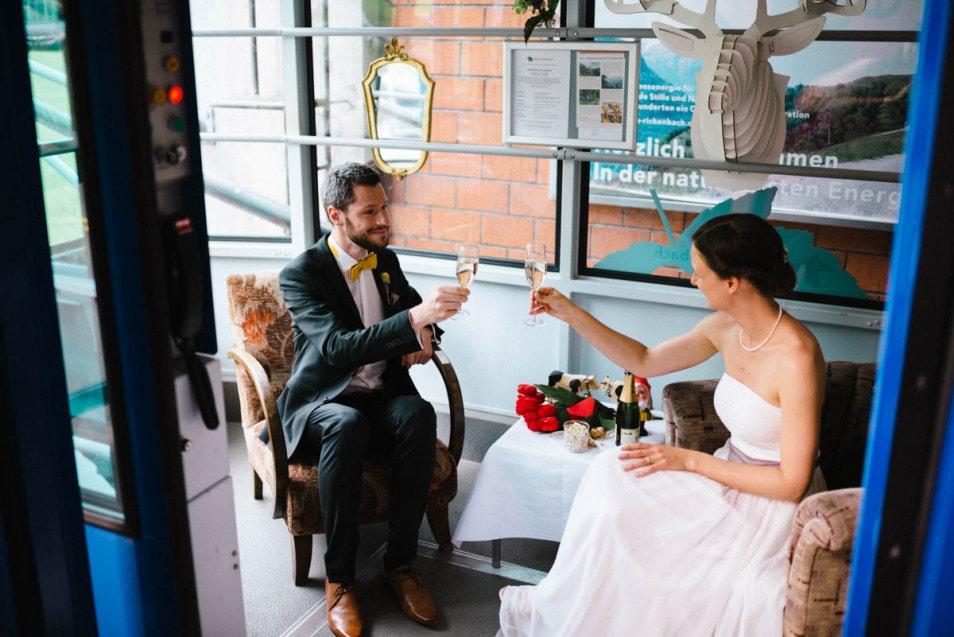 eine Gondel für das Brautpaar