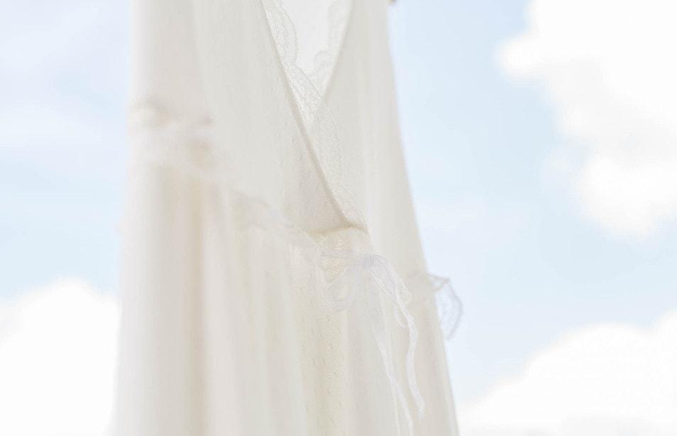 Brautkleid natürlich feine Spitze