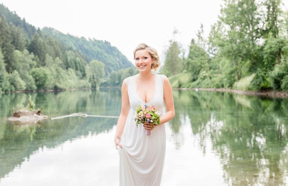 Brautkleid natürlich