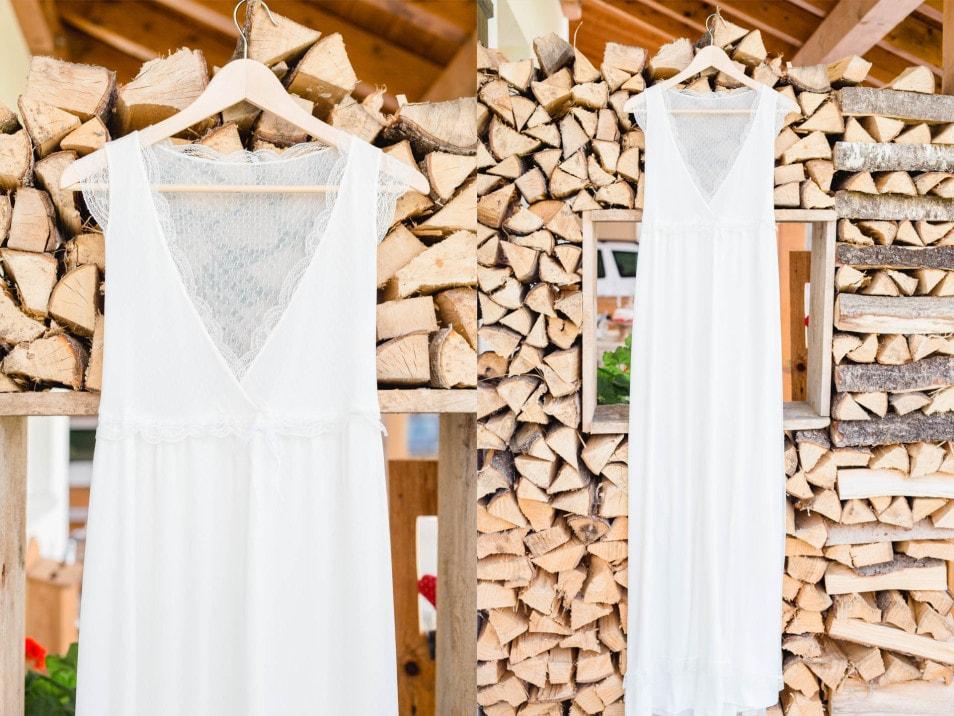 Leichtes Brautkleid in Spitze