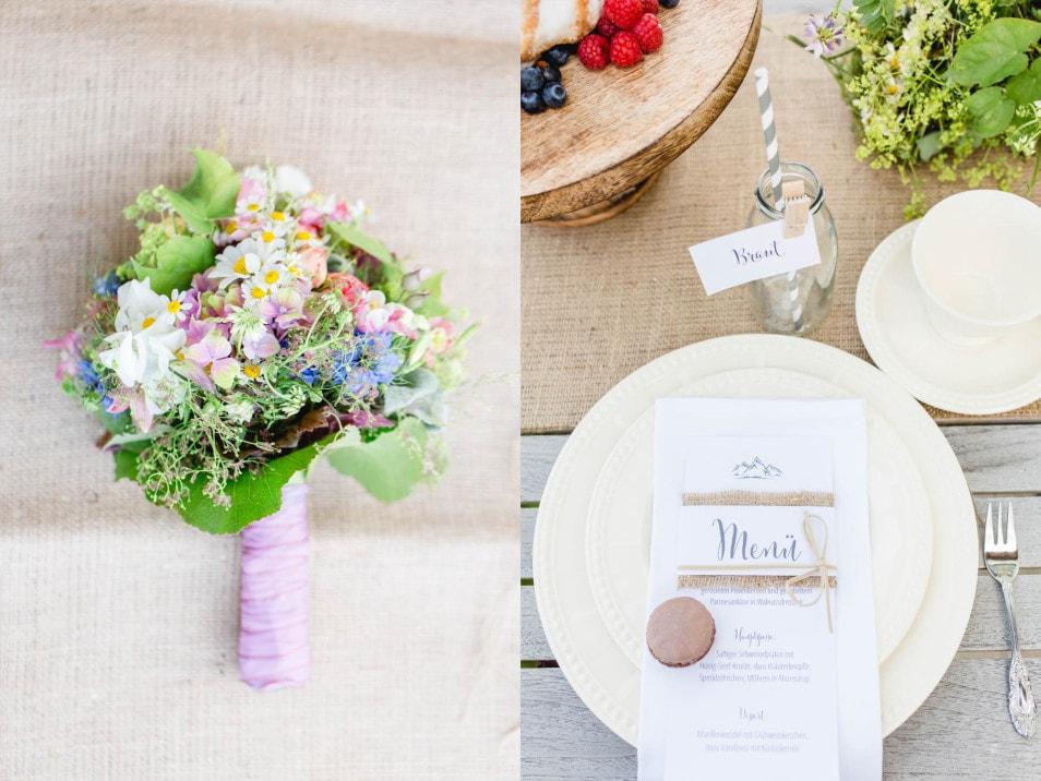 Brautstrauß und Papeterie