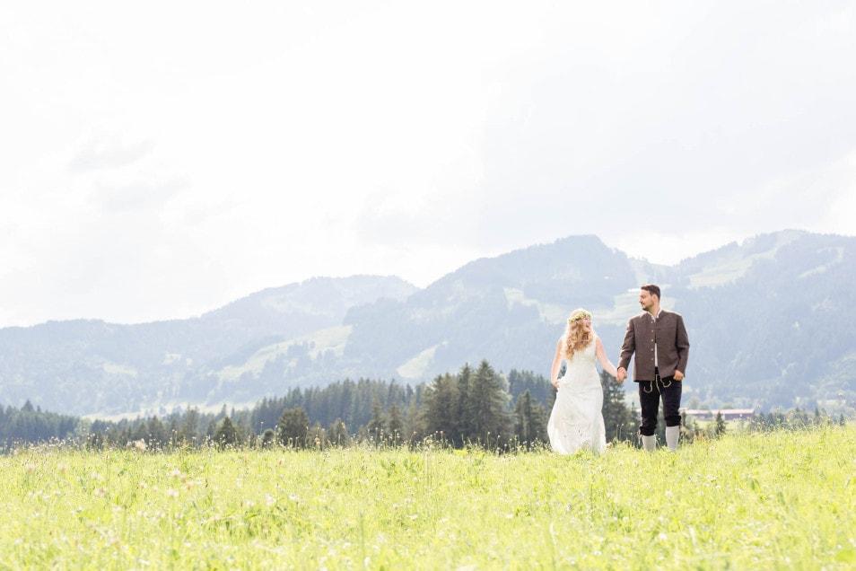 natürliche Hochzeit im Allgäu