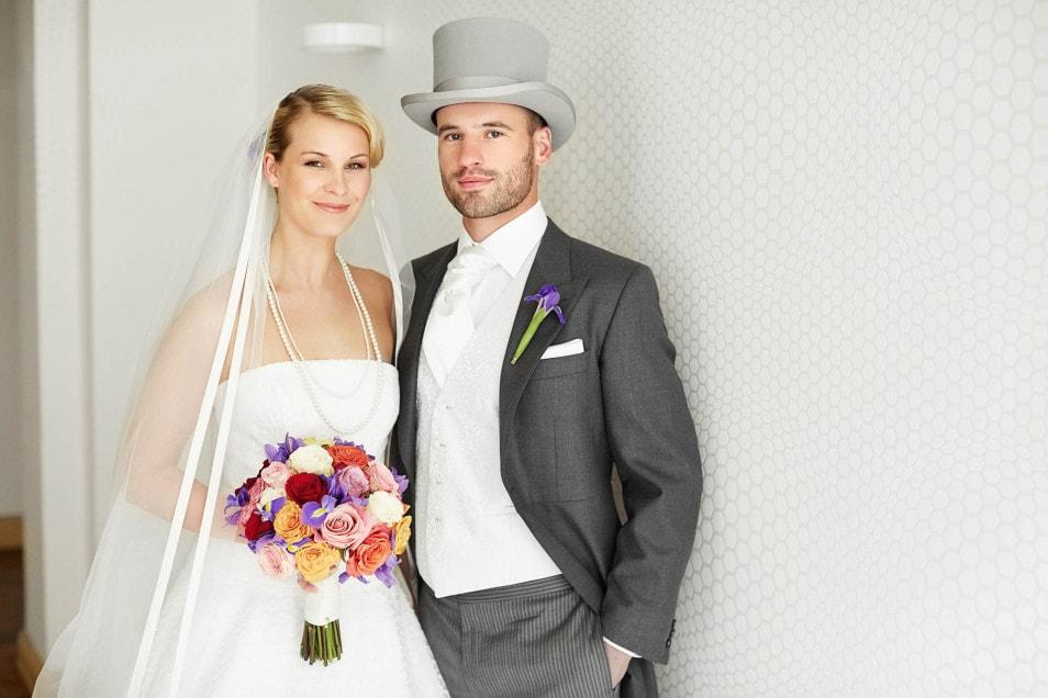 Braut und Bräutigam ganz klassisch