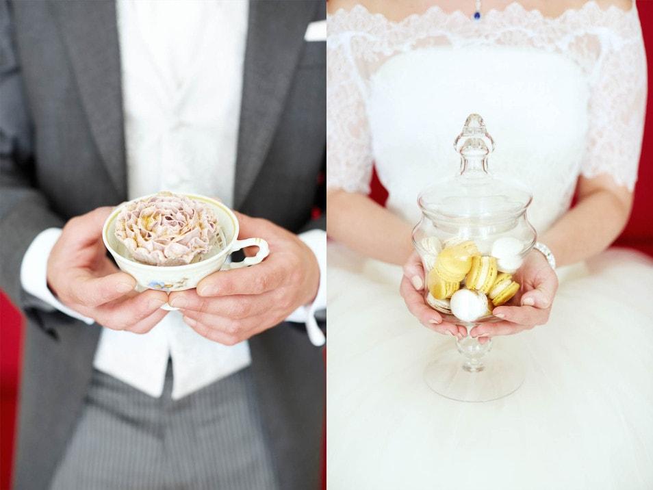 Nahaufnahmen Hochzeitsdeko