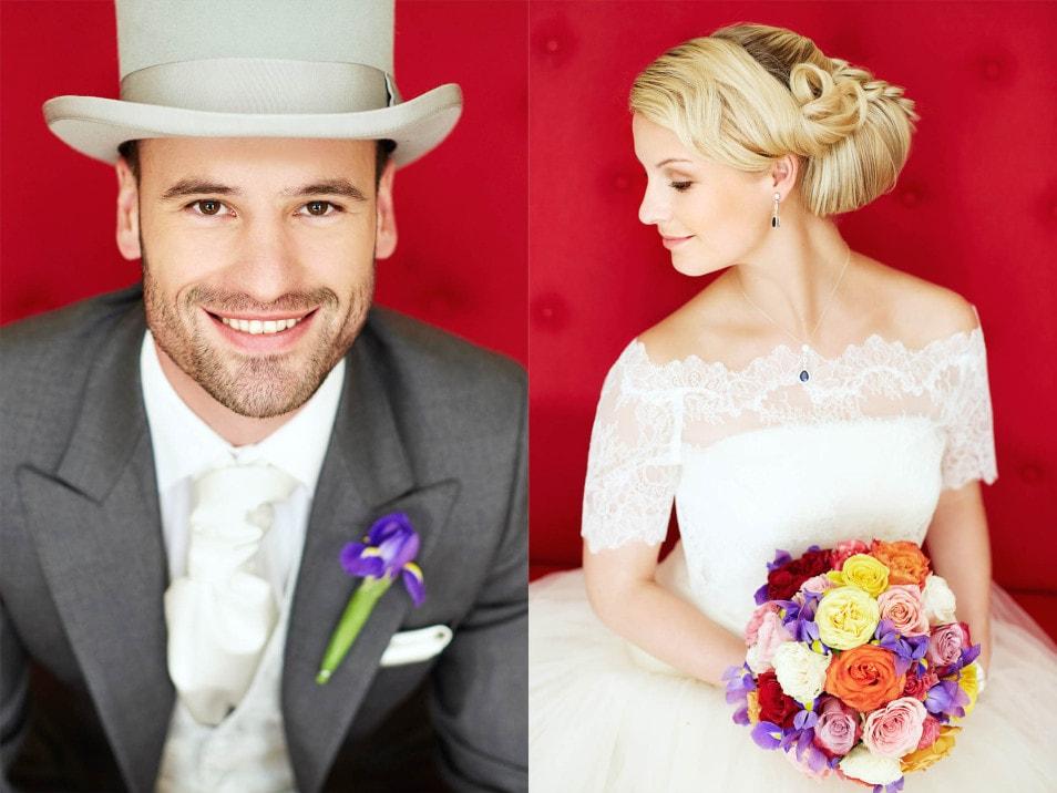 Nahaufnahme Brautigam und Braut