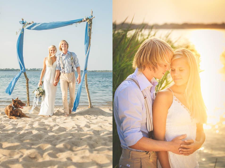 Hippie Brautkleid für Strandhochzeit