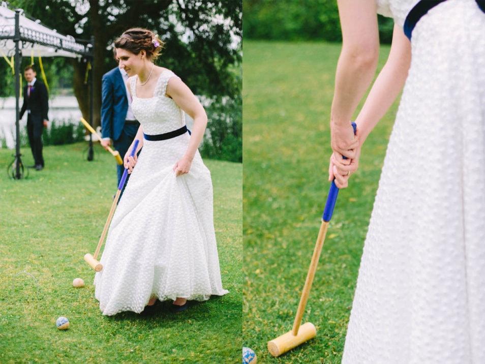 Cricket am Nachmittag der Hochzeit