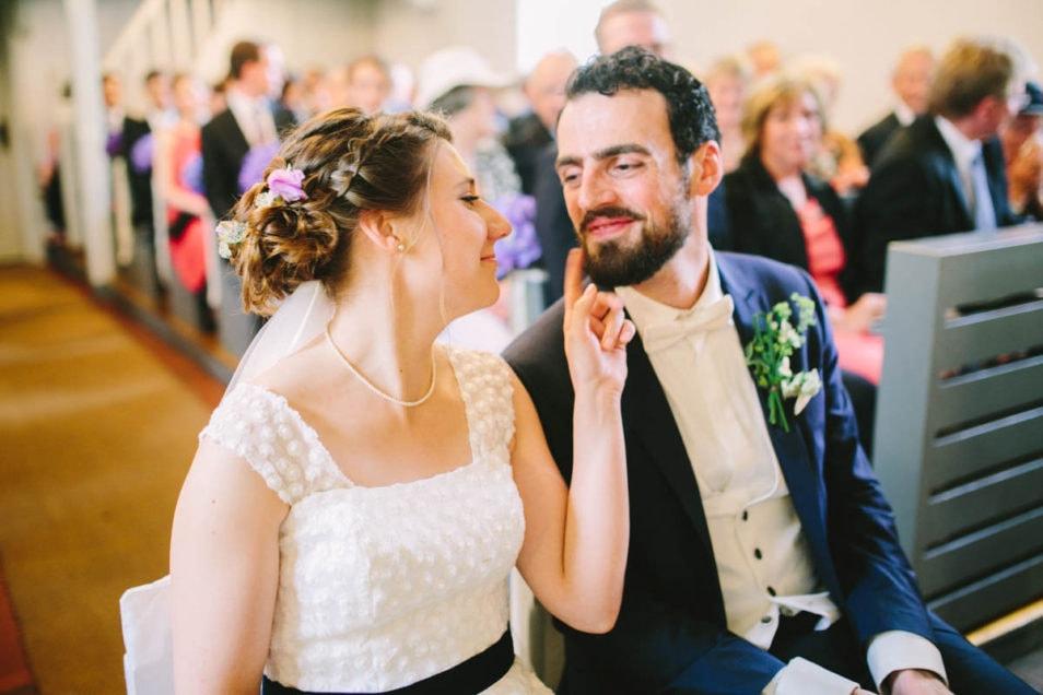 frisch verheiratet in der Kirche