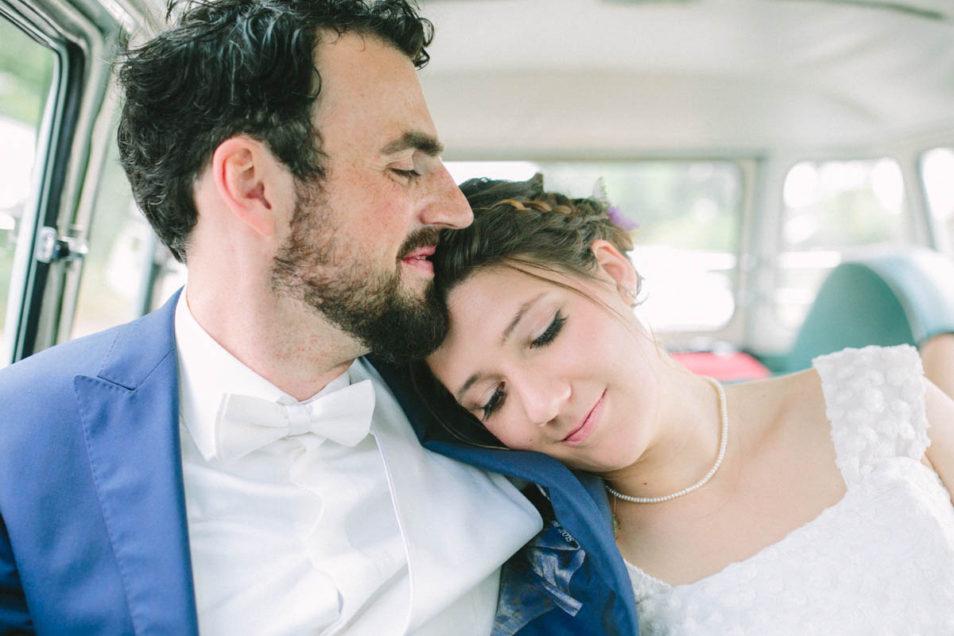 verträumt im Hochzeitsbulli