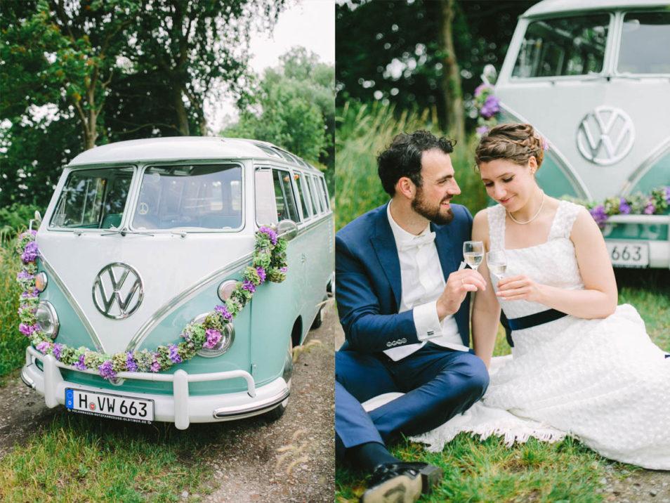 Hochzeitsbilder vor Hochzeitsbulli