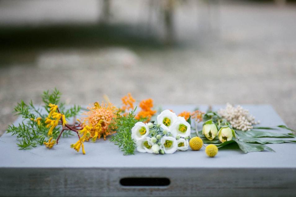 einzelne Blumen für den Brautstrauss
