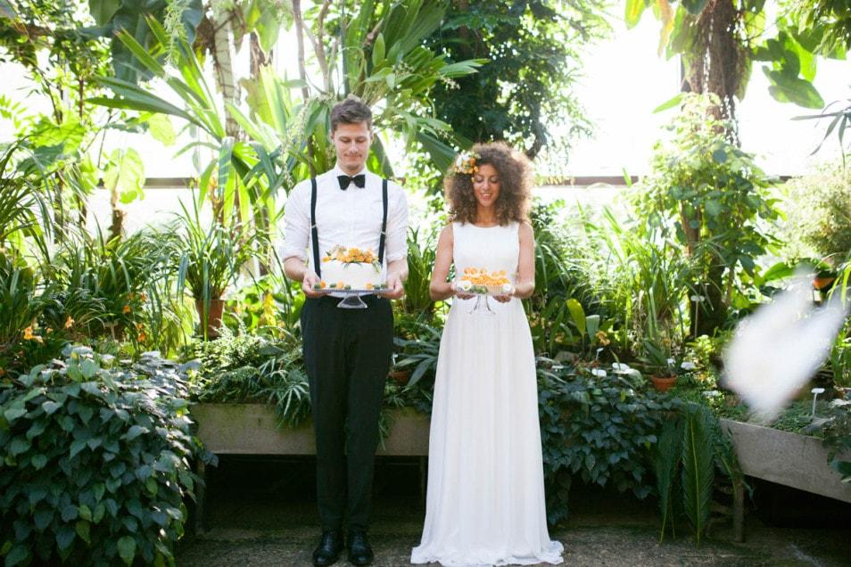 Hochzeitstorte in Orange