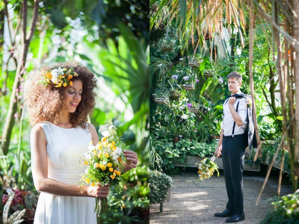Botanic Flair im Brautkleid