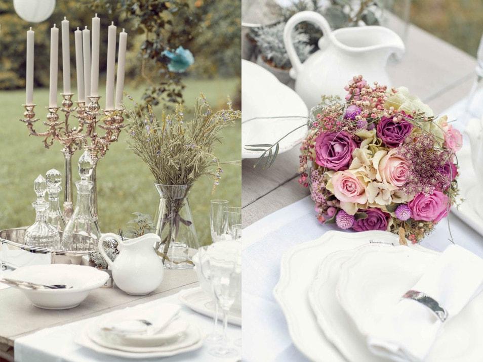 Dekoration Hochzeitstisch