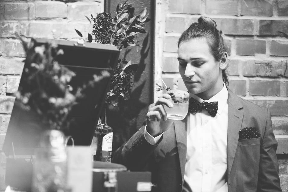 schwarz-weiß Foto Hochzeit