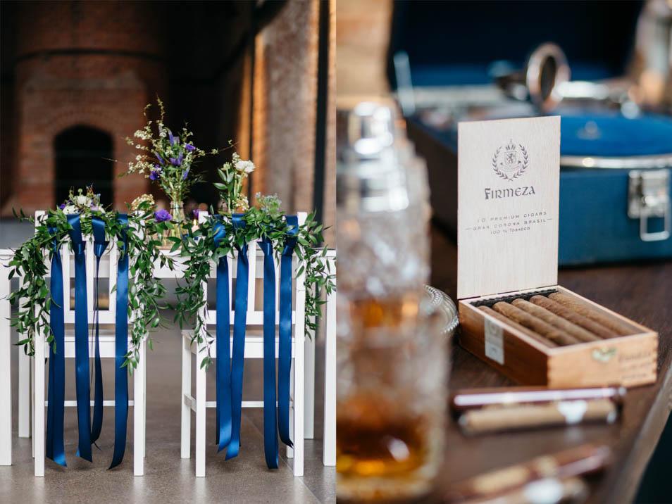 Blaue Hochzeitsdeko