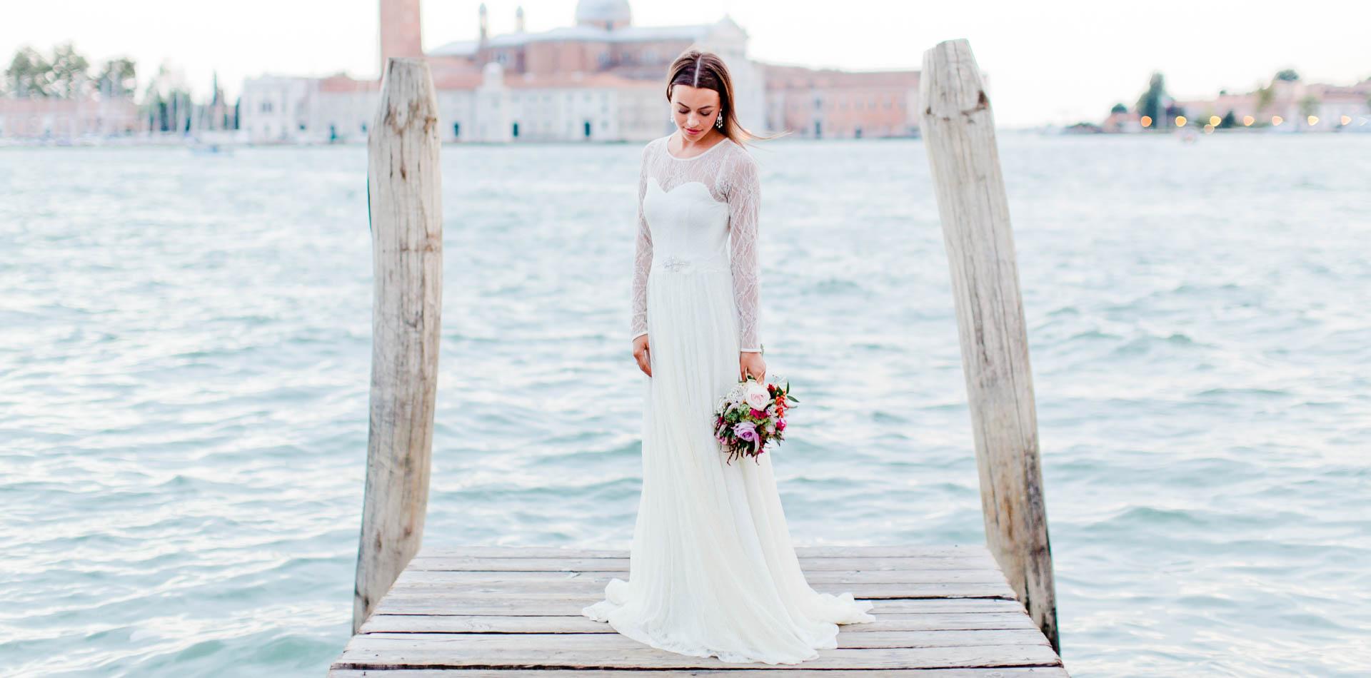 Destination Wedding – ein Brautkleid in Venedig