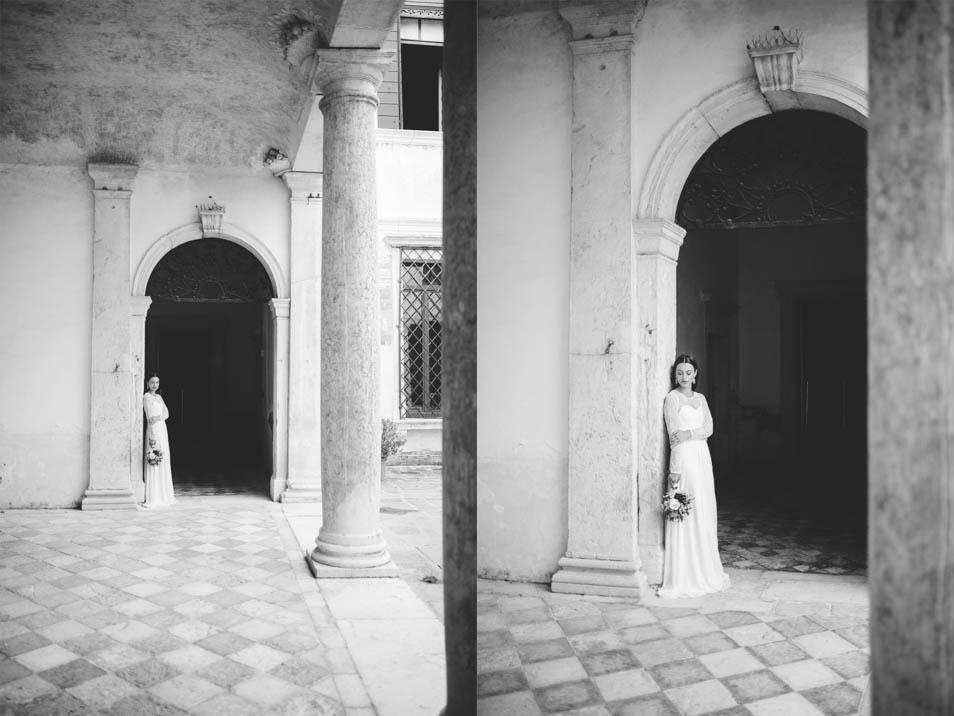 Braut in historischer Kulisse