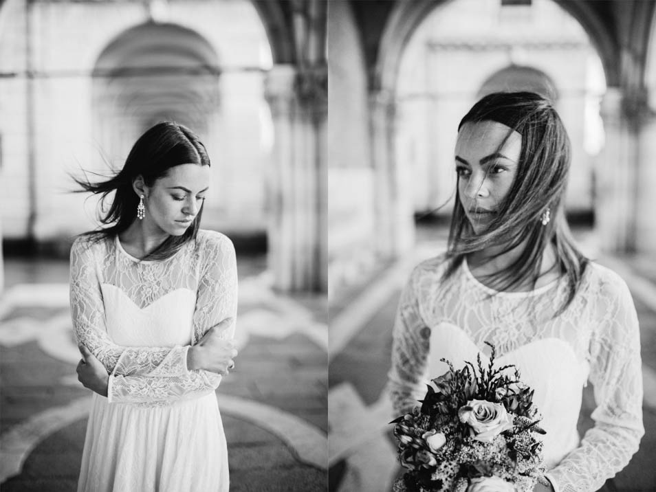 Brautkleid langarm mit Spitze