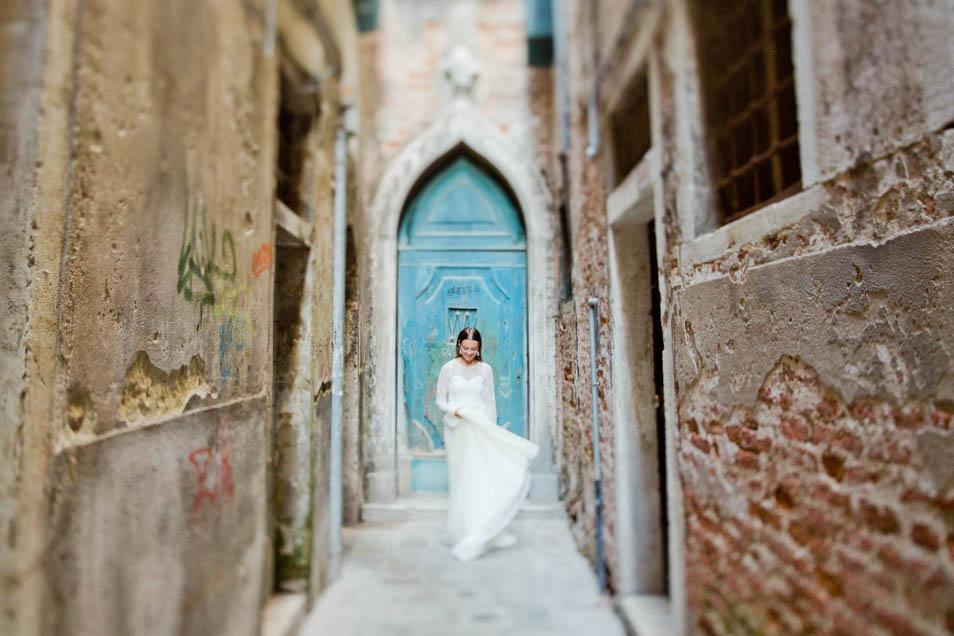 verträumte Braut in Venedig