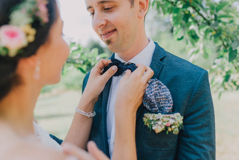 Bräutigam mit Fliege