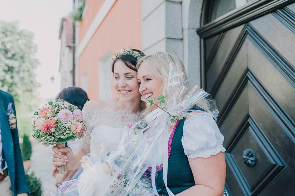 Hochzeitsfoto mit Freunden
