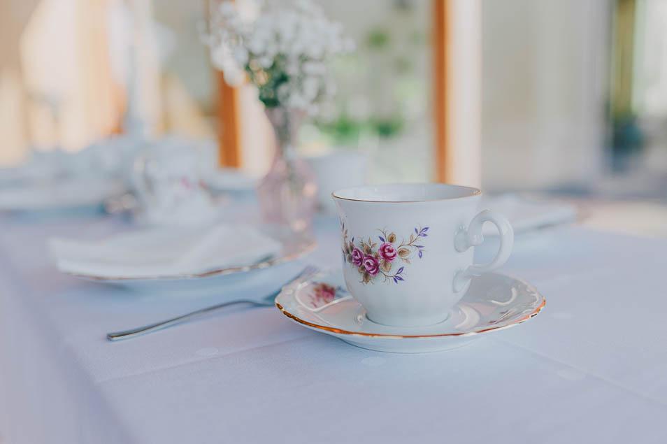 Vintage Teeservice für dei Hochzeit
