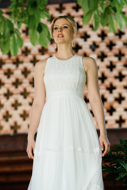 Boho Hochzeitskleid mit Bohemian Stickerei