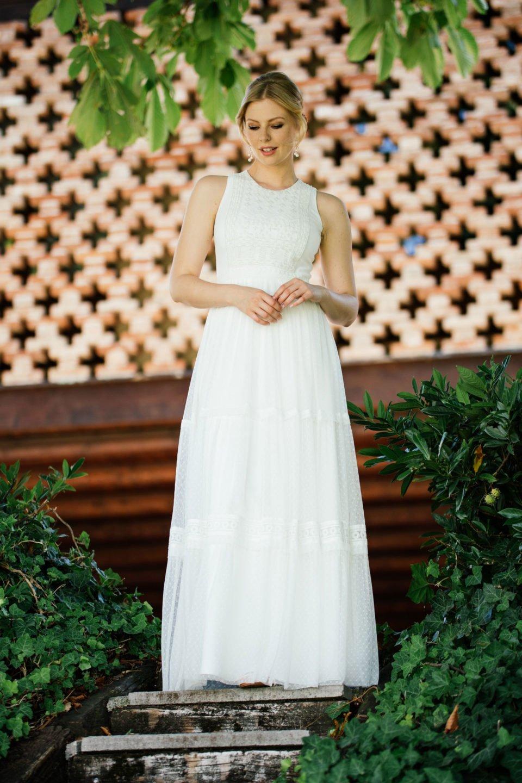 Boho Hochzeitskleid ganz pur