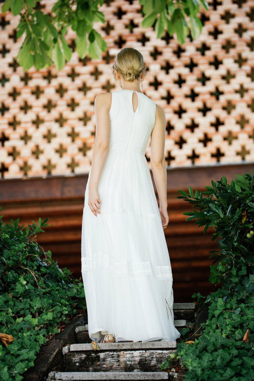 Boho Hochzeitskleid Rückenansicht