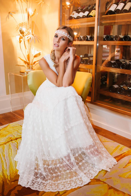 Brautkleid Hippie Style in unterschiedlichen Spitzenstoffen