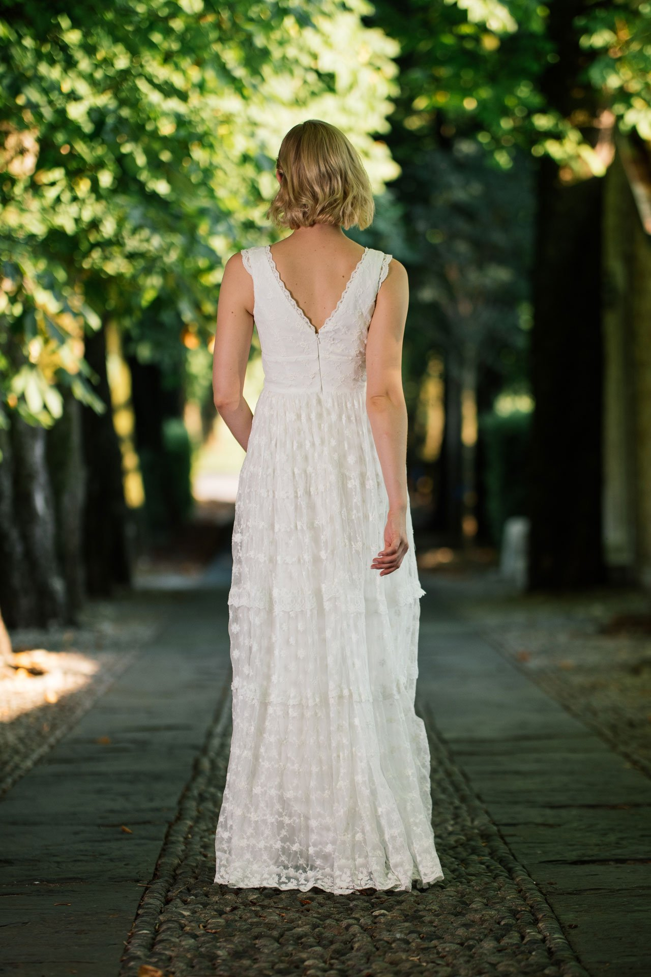 Brautkleid Hippie Style Rückenansicht
