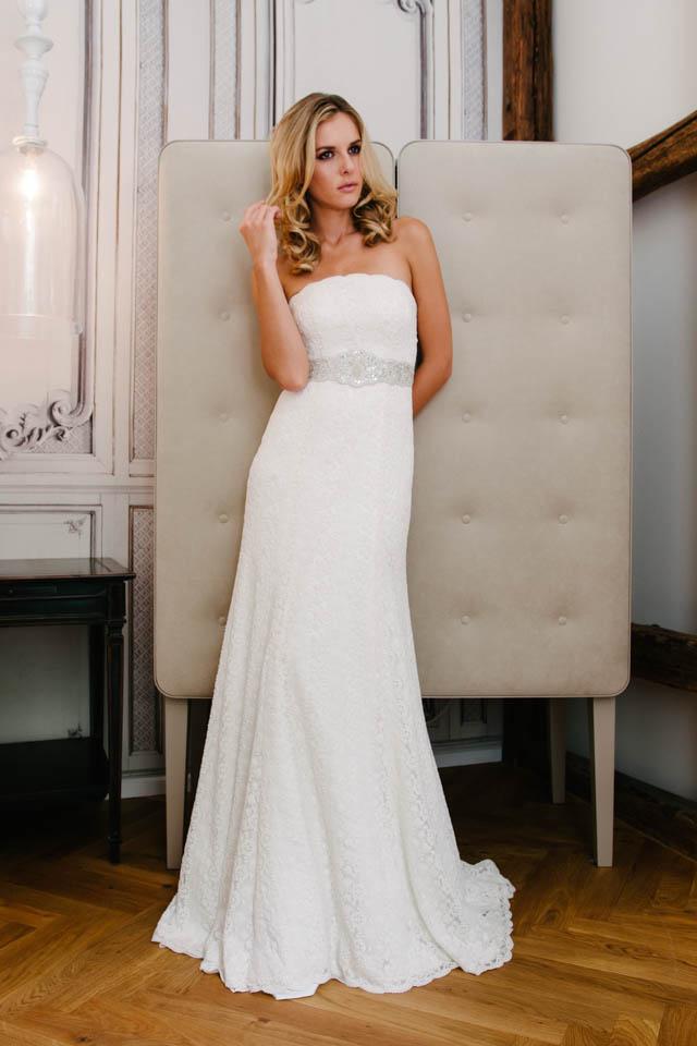 Brautkleid Meerjungfrau in baumwollig bestickter Spitze – Kim