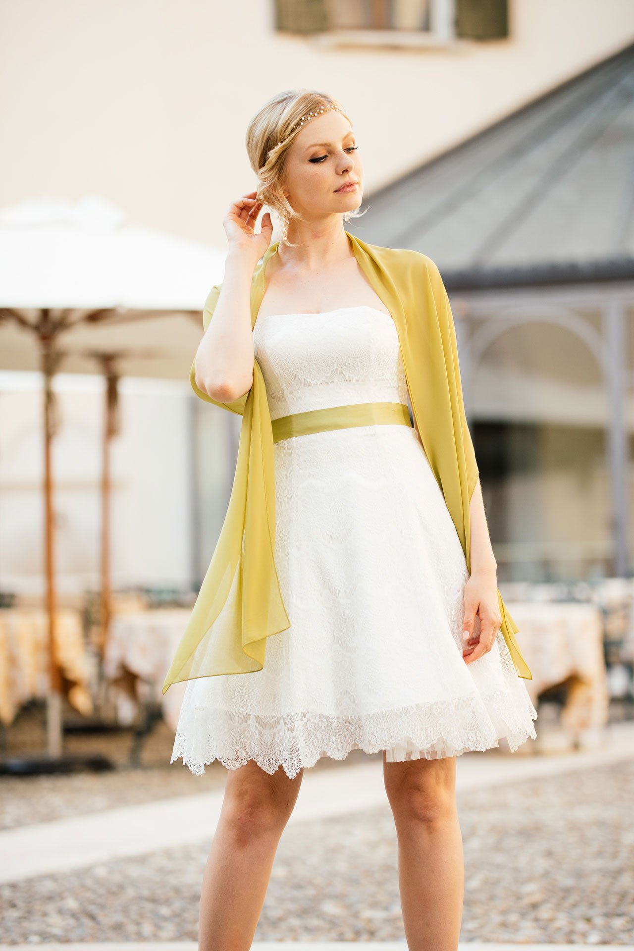 Brautkleid Petticoat mit Stola