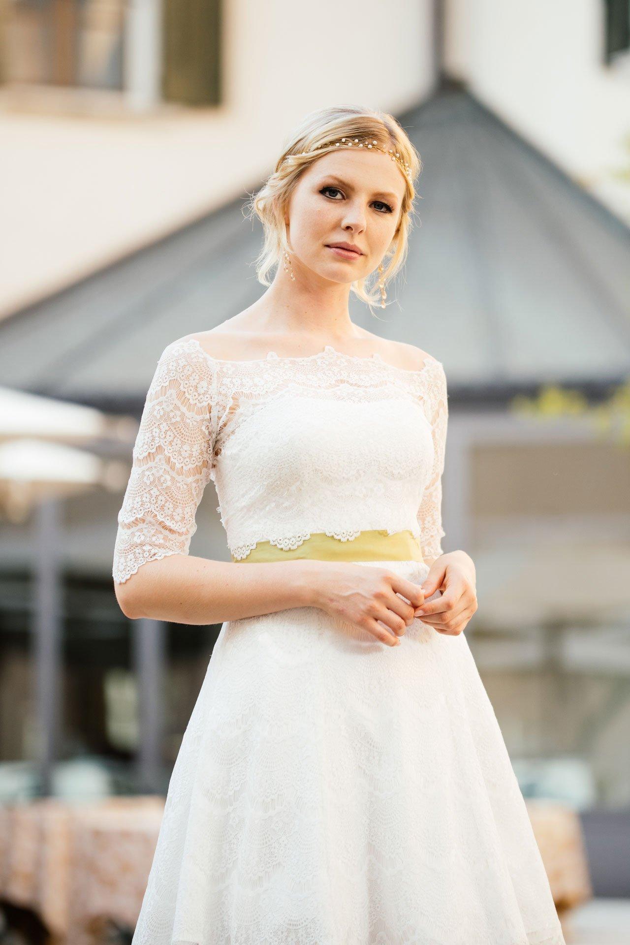 Brautkleid Petticoat kurz Nahaufnahme