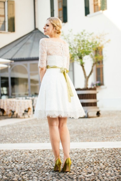 Brautkleid Petticoat – kurzes Spitzenkleid – Katy