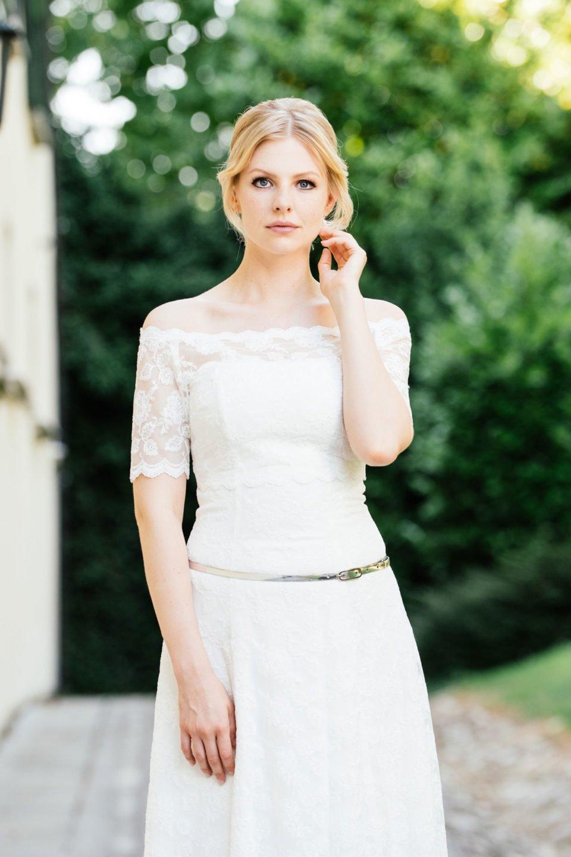 Brautkleid schulterfrei - Spitzenkleid