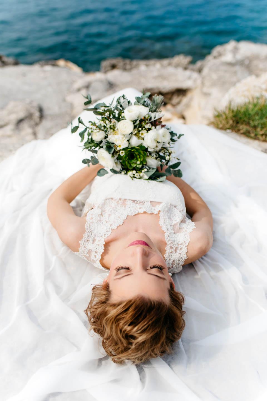 Hochzeitskleid Faye 20er Jahre Seide