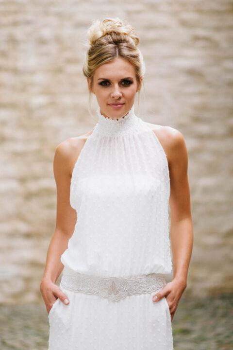 Boho Brautkleid mit Taschen