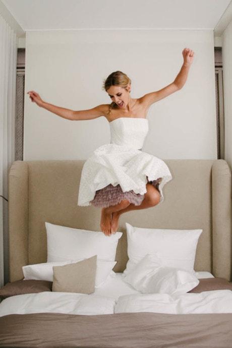 Petticoat Hochzeitskleid – Tellerrock in Lochspitze – Peggy