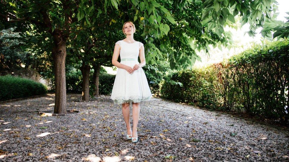 Rockabilly Hochzeitskleid - mit Taschen und Flügelarm