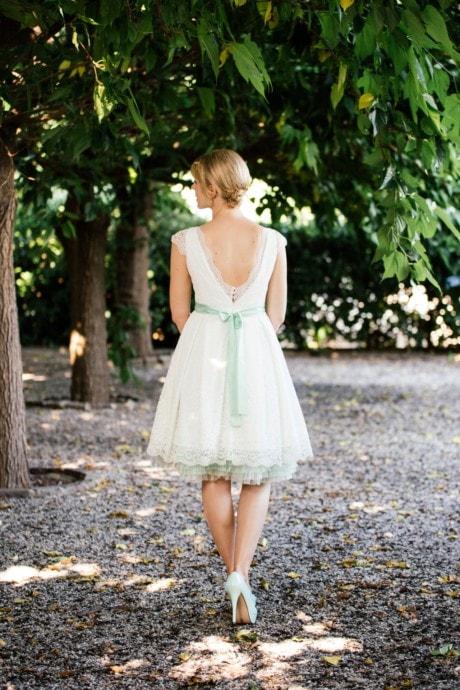 Rockabilly Hochzeitskleid – mit Taschen und Flügelarm – Patty